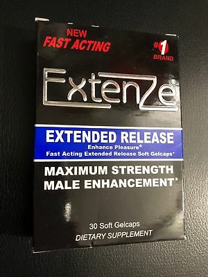 Extenze Maximum Strength Extended Release 30 Cap Male Enhancement Exp APRIL 2019