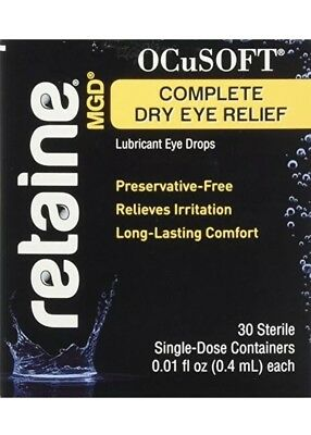 Ocusoft Retaine Dry Eye MGD Ophthalmic Emulsion 30 Single Dose Vials/ Exp 2020