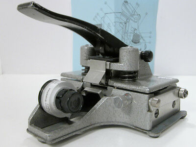 Working Professional CATOZZO 16MM FILM SPLICER W/Instructions & Splicing Tape