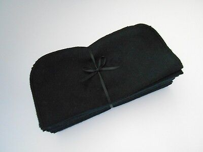 "Cloth Wipes 20 Flannel 8"" Black Reusable TP Baby Family Tissue Napkin 1 or 2 Ply"