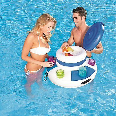 Bestway Mega Inflatable Floating Swimming Pool Lake Cooler Beverage Holder