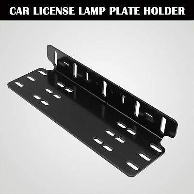 License Number Plate Frame Holder Bull Bar Bumper Mount Light LED Bracket AX