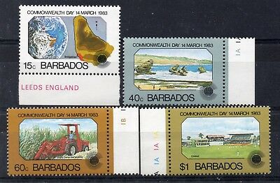 BARBADOS - 1983 Commonwealth Day set/4. Marginal MNH.
