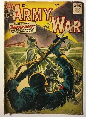 "Our Army at War No. 60, July 1957. Featuring ""Ranger Raid!"" Fair Condition!"