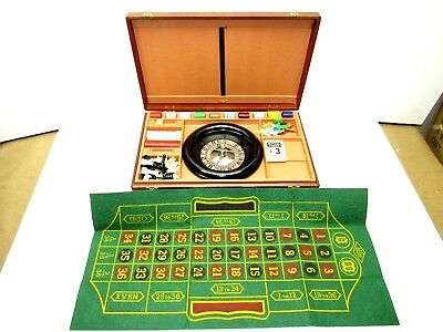 Vintage 1944 Roulette Lowe Casino Gambling Briefcase Game Set