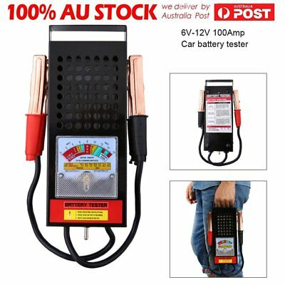 6/12V 100Amp Battery Load Tester Alligator Clip Heavy Duty Car Truck Checker AX