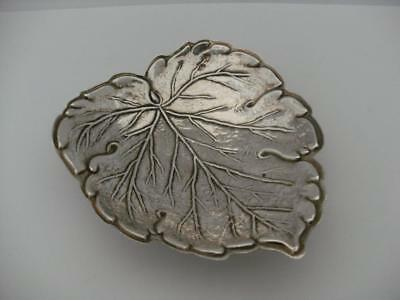HALLMARKED STERLING SILVER TRAY DISH Leaf design