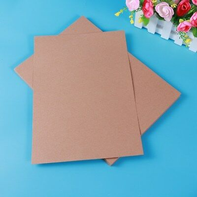 50x A4 Kraft Paper Sheet 180g Natural Recycled Invitation Wedding Coffee AU Ship