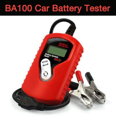 12V Car Battery Tester Digital BA100 Vehicle Battery Analyzer for All Cars AX