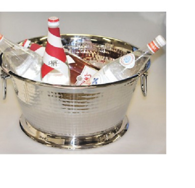 Large Stainless Steel Ice Bucket Bowl Punch Champagne Wine Cooler Container 40cm