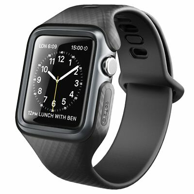 Clayco For Apple Watch 3/2/1 42mm Case, Hera Series Shockproof Bumper+Strap Band