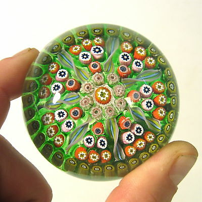 Vintage PERTHSHIRE Scotland Art Glass Millefiori SPOKE CARTWHEEL Paperweight