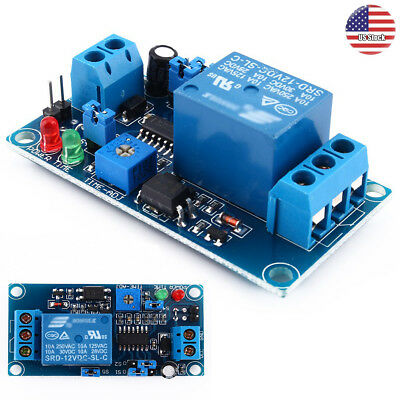 12V DC Delay Relay 250v AC Turn on / Delay Turn off Switch Module with Timer US