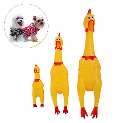 Funny Squeaker Scream Rubber Yellow Chicken Pet Dog Chew Toys Squeaky Sound Gift