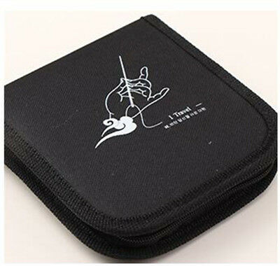 1Mini Home Sewing Kit Measure Scissor Thread Needle Travel Storage Box Black