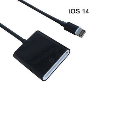 BLACK Lightning to SD Card Camera Reader Adapter Cable for iPhone 6 7 8 x