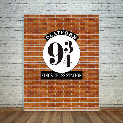 Harry Potter 9 3/4 Platform Station Photography Backdrop Wall Sticker