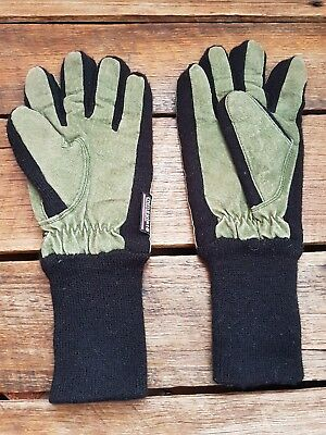 THINSULATE (Thermal Insulation) Women's Green Suede Winter/ Snow Gloves Sz M