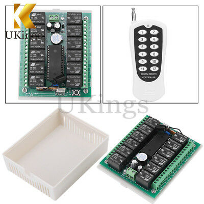 12V 12CH Relay Wireless RF Remote Control Switch Transmitter + Receiver K