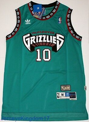 aabe79303 Hardwood Throwback Jersey MIKE BIBBY 10 Vancouver Grizzlies Teal Mens NWT