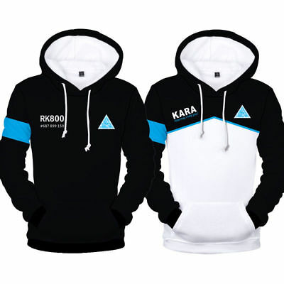 Detroit Become Human Hoodie Connor RK800 Kara Unisex Sweatshirt Coat Sweater New