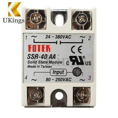 SSR-40AA 40A Solid State Relay Module 80-280V AC / 90-480V AC K