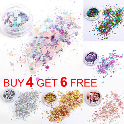 Chunky Mix Glitter Nail Face Eye Shadow Body Festival Clubbing Tattoo Cosmetic