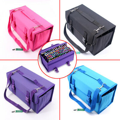Art Marker Pens Storage Case 120 Slots Large Portable Multi-Layer Carrying Bag 1