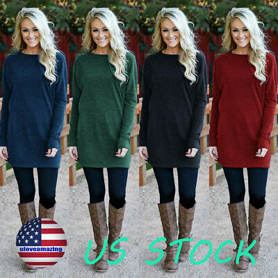 Women Solid Knitted Sweater Dress O Neck Loose Autumn Winter Casual Mini Dresses