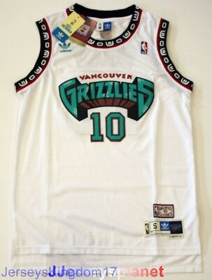 Hardwood Throwback Jersey MIKE BIBBY 10 Vancouver Grizzlies White Mens NWT 1fec09183
