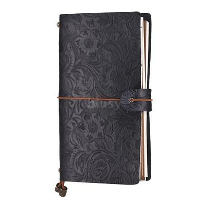 Leather Vintage Notebook Diary Notepad Refillable Journal Daily Sketchbook E5I5
