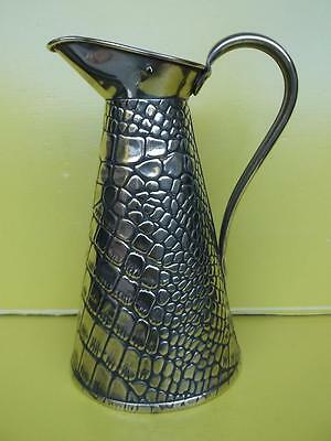 256 / Antique Late 19Th Century English J.s&s 2 Pint Brass Jug With Brass Lid