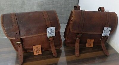 Motorcycle saddlebag 1Pair leather saddlebags Panniers  Brown Design Jasol 2018