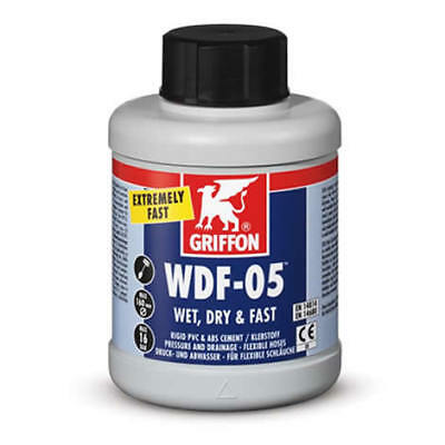 Griffon WDF-05 PVC & ABS Pipe Solvent Weld Cement Glue 100ml 250ml (WRAS)