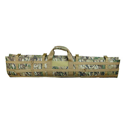 Long Padded Fishing Rod Holdall Bag with Pockets, Expandable as Seat Cushion