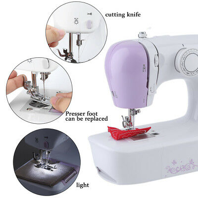 Portable Desktop Mini Electric Sewing Machine Hand Held Household Tailor 2Speed@