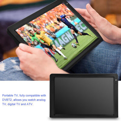 "PORTABLE TV 12""Inch TFT LED HD 1080P 12V POWER BATTERY DIGITAL MULTIMEDIA PLAYER"