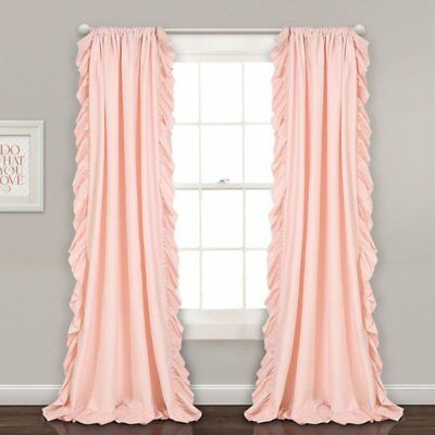 Remarkable Cotton Pink Shabby Chic Country Textured Ruffled Curtains Download Free Architecture Designs Xerocsunscenecom