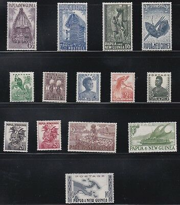 Papua New Guinea  1952 - 58    S G  1 - 14    Part Set To 10/-    Mh