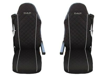 DAF 105 XF , 105 CF Seat Covers GREY PIPING 2 pieces