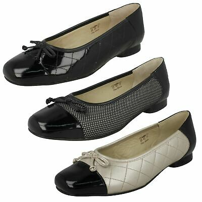 0bb6d01ee74 LADIES GIRLS QUILTED Ballet Pumps Black Faux Leather Work School ...
