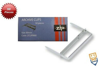 Archive Filing Clips 2 piece Metal 51mm Capacity PK50 * like Acco* - 503336