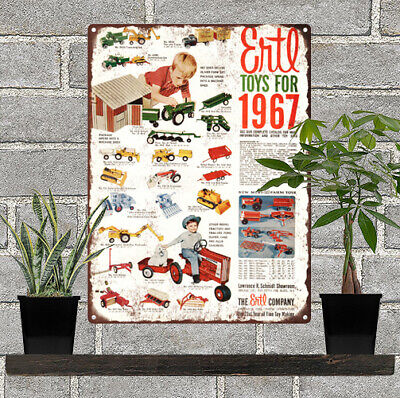 "1967 Ertl Cast Iron Toys IH Tractor Farm Allis AD Metal Sign Repro 9x12"" 60279"