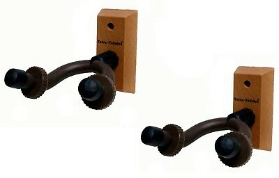 Wall Mount Guitar Holder 2PCS of Organizers Hardwood Made Guitar Hanger Display