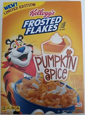New Frosted Flakes Pumpkin Spice Cereal 10 Oz Limited Edition Free Shipping