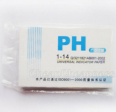 80x PH Test Strips Litmus Paper 1-14 Alkaline Urine Saliva Acid Aquarium HB