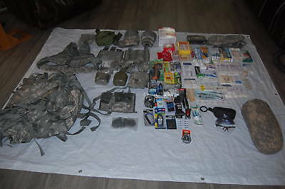 Tactical Gear Survival Kit Trauma First Aid Tent Emergency Food Supplies Bug Out