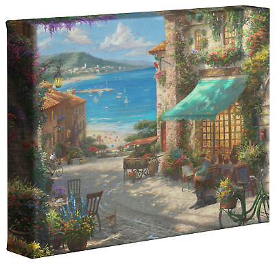 Thomas Kinkade Studios Italian Cafe 8 x 10 Canvas Gallery Wrap