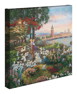 Thomas Kinkade Studios Disney 101 Dalmations 14 x 14 Gallery Wrapped Canvas