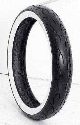 """Vee Rubber Tire Wide White Wall Tire 23"""" 130-50B for Harley Touring"""
